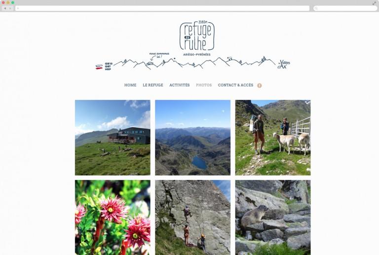 site internet gite hotel montagne graphiste freelance communication