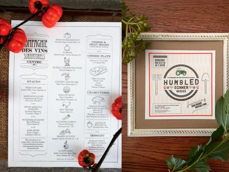 flyer communication restaurants création graphique branding