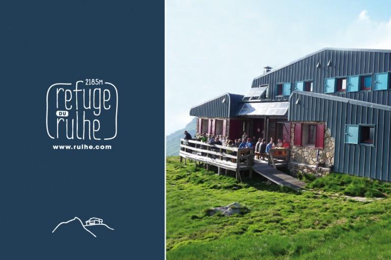 logo gite montagne branding hotel graphiste freelance